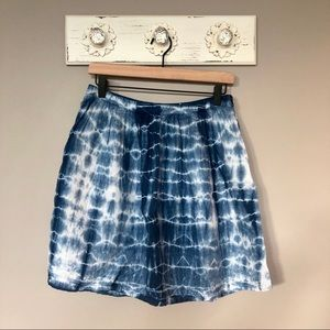 Madewell | Blue and White Tie Dye Linen Skirt
